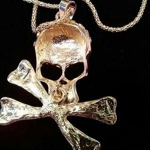 Jewelry skull crossbones swivel gold necklace poshmark jewelry skull crossbones swivel gold necklace aloadofball Gallery